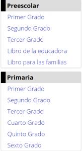 Preescolar y primaria
