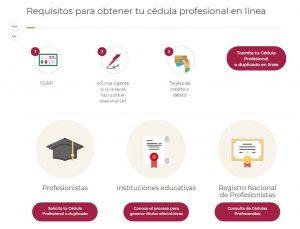 Requisitos para obtener cedula profesional online
