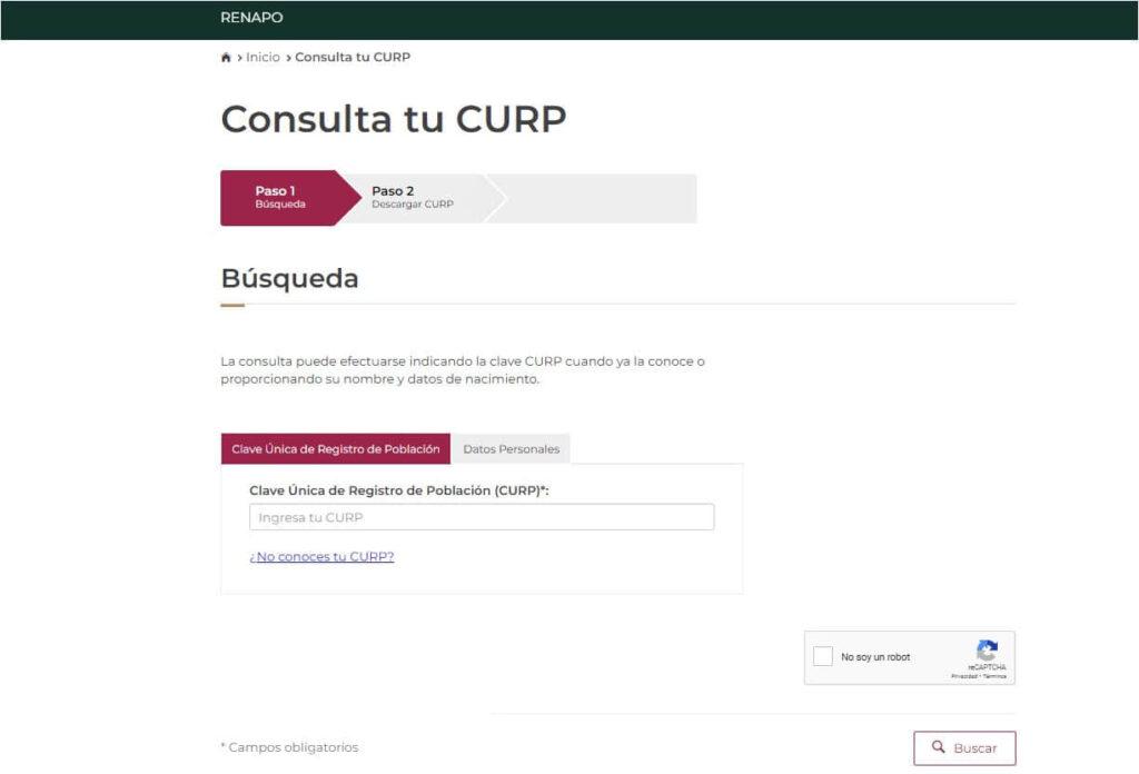 CONSULTA DE CURP